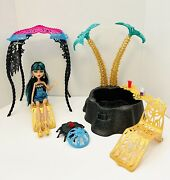 Monster High Cleo De Nile 13 Wishes Desert Fright Oasis Doll And Playset