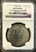1903 P Morgan S1 Graded By Ngc Unc Details Obv Improperly Cleaned 4042658-018