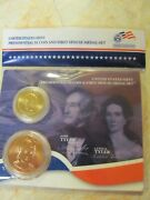 2009 John Tyler Dollar And Both First Spouse Medals Xo3 And Xr3