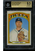 Casey Mize 2021 Topps Heritage Action Variation Rookie Card Rc 253 Bgs 9.5 Gem