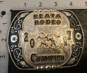 Prca Pbr Pro Rodeo Bull Fighter Champion Trophy Buckle Bull Rider Bull Riding