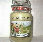 Yankee Candle Retired Wild Sea Grass Dune Large 22 Oz White Labelrare New