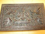 Royal Army Medical Corps - Inarduis Fidelis Cigar Box Sculpted/vintage/wood