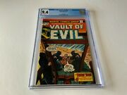 Vault Of Evil 18 Cgc 9.4 White Pages Cool Guillotine Cover Marvel Comics 1975