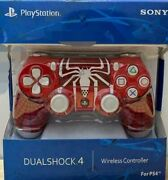 Sony Playstation Ps4 Dualshock 4 Controller -- Spider Man Red New