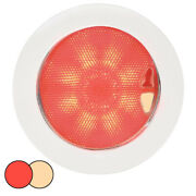 Hella Marine Euroled 150 Recessed Surface Mount Touch Lamp - Red/warm White Led