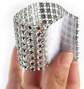 100 Pcs Napkin Rings Sparkly Adornment For Wedding/shower/party Silver
