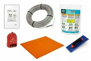 Schluter Ditra Radiant Floor Heat Kit With Thermostat Membrane Thermal Pack