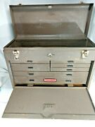 Vintage Craftsman 7 Drawer Machinist Tool Chest Tool Box With Key