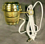 New Brass Electric Burner With 6ft. White Cord For Aladdin Brand Lamps Eb242