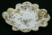 Old Noritake Rc Nippon Handled Bowl Candy Dish W Gold Flowers And Moriage Beads