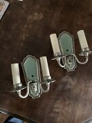 Antique Wall Sconce Pair