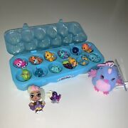 Hatchimals Colleggtibles Lot Of 12 1 Dozen Plus Case And Pixie Cosmic Candy Doll