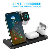 4in1 Qi Wireless Charger Station For Apple Watch Air Pods Iphone 12pro Max Xs Xr
