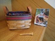 Longaberger Tee Basket Set Golf Handy Size Fathers Day 99 Shipping Included