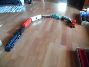 Marx Die-cast 2-4-2 666 Engine Tender With 6 More Cars  O Scale