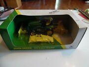 Ertl 5079 John Deere 345 Lawn Tractor With Blade Mower And Snow Blower Mib