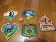 Boy Scout Of America Trail Patches 1960s Fifty Year Tie Clasp