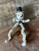 Vintage Chenille Pipe Cleaner Arms And Legs Snowman Figure Marked Japan 6andrdquo Tall