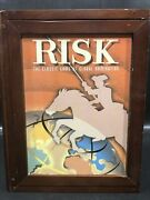 Risk Vintage Game Collection Wood Box Book Shelf Edition 100 Complete Excell