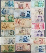 Israel Lot Of 20 Different Banknotes Pound Lira And Sheqel 1958-1987 Low Grade 2