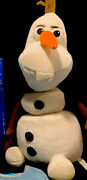 """Disney Frozen 12"""" Pull Apart Talking Olaf The Snowman Plush By Let's Play Fl Usa"""
