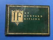If By Rudyard Kipling 1910 1st Edition In Morocco Boards Doubleday Page