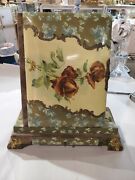 Gentlemans Antique Victorian Cabinet Card Photo Album On Stand Roses