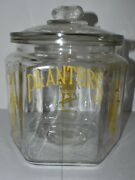 Vintage Planters Peanuts Store Display Advertising Glass Jar Container W Lid