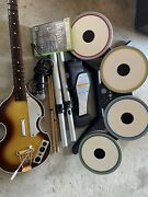 The Beatles Rock Band Xbox 360 Bundle Drums Pedal Guitar Microphone Game