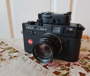 Vintage Camera Leica M4-p Black With Lens Summicron 12/50 And Leica Light Meter