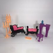 Monster High Freaky Fusion Catacombs Castle Doll Furniture + Accessories Lot