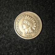 1860 Indian Head Cent Penny Pointed Bust Exact Coin Pictured