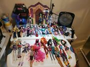 Vintage Monster High Doll Lot Of 41 W/accessories, Shoes And Clothes All Included