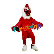 Sport Red Cock Rooster Mascot Costume Fancy Dress Cosplay Animal Costume Cosplay