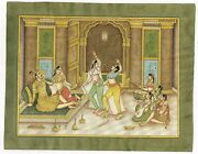 Dancing Girls And Musician Performing To Emperor - Mughal Miniature Painting