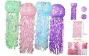 4 Pack Little Mermaid Party Decorations, Jellyfish Paper Lanterns Kit, Baby