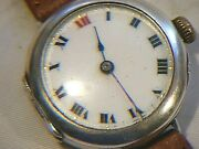 Antique Rolex Officers Trench Watch Solid Silver 1917