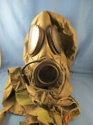 Us Army Gas Mask M17a-2 Vintage Military Black Chemical Biological Used