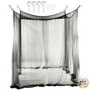 3 Colors Mosquito Net Canopy 4-corner Post Canopy Bed Size 190 X 210 X 240cm