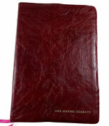 1988 Nelson Liberty Annotated Study Bible Kjv Leather Burgundy Old Time Gospel