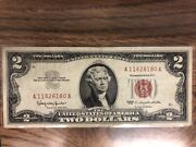 Series 1963 Two Dollar Red Certificate Circulated Washington Not Graded