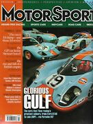 Motorsport March 2013 Glorious Gulf The Cars With The Greatest Colour