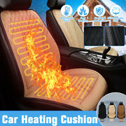 12v Electric Heated Car Seat Cushion Cover Winter Warmer Square Auto Suv Pad ┤