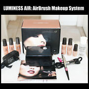 Luminess Air Airbrush System Black Compressor Pink Tip No Drip Stylus W/ Makeup