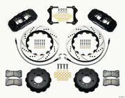 Wilwood Aero6 Front Hat Kit 14.00 Drilled For 2007-2011 Bmw E90 Series W/lines -