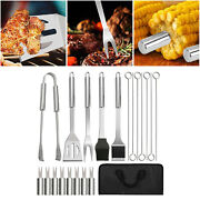 Bbq Grill Tool Set 20x Stainless Steel Outdoor Barbecue Grilling Accessories