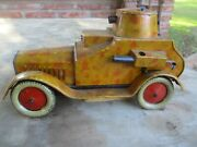 Rare Japanese Pre-war Tin Litho Toy Armored Car Camouflage 1930s