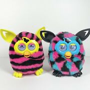 Furby Boom Pair Talking Interactive Pet Pink Black Blue Yellow Tested 2012