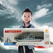 Rc Boat Ship High-speed Military Model Remote Control Battleship Bots Gift Toy